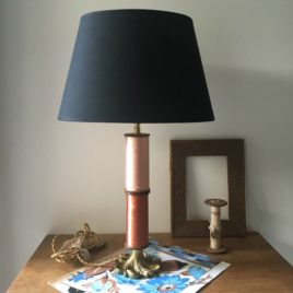 lampe 2 bobines cognac