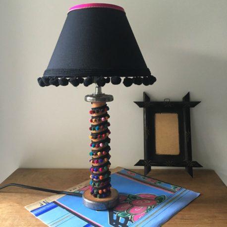 lampe bobine galon multicolore