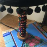 lampe bobine galon multicolore pied