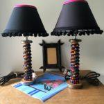 lampe bobines galon multicolore paire