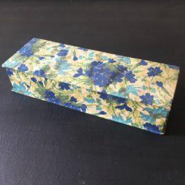 boite bleue campanules