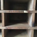 casiers bois brut ancien zoom