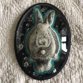 cadre lapin petit coeur