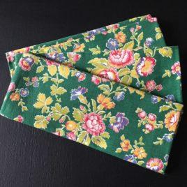 coton vert fleuri coupon