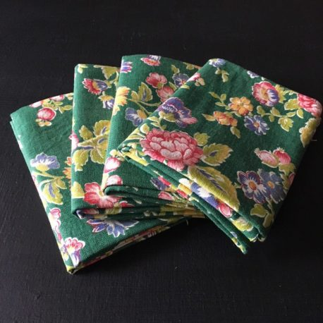 coton vert fleuri fat