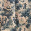 toile de jute imprimée ancienne motif