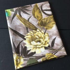 Coton grand motif vegétal