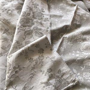 Toile à matelas gris et blanc recto-verso