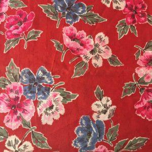 tissu ancien fleurs à colorier