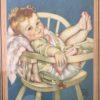 cadre bébé ancien détail
