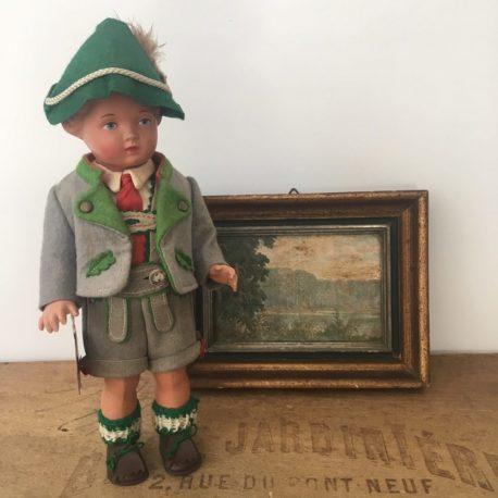 tyrolien poupée folklorique ancienne