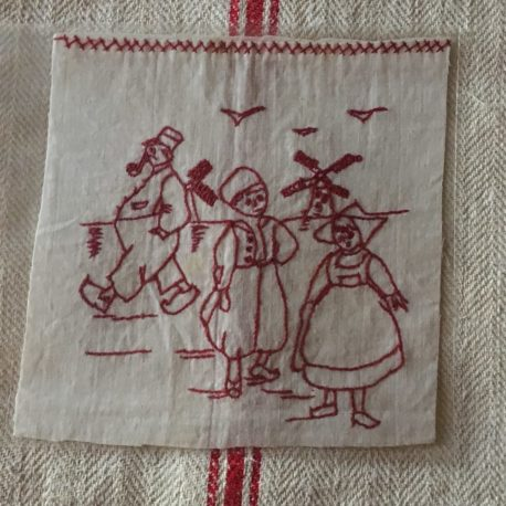 red work broderie rouge