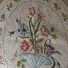 tapisserie ovale ancienne détail