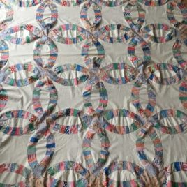 wedding ring quilt top