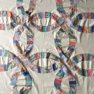 wedding ring quilt top motif