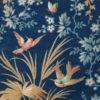 Tissu ancien Napoléon III bouquet