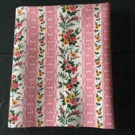 Rayé fleuri rose