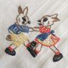 motif lapins