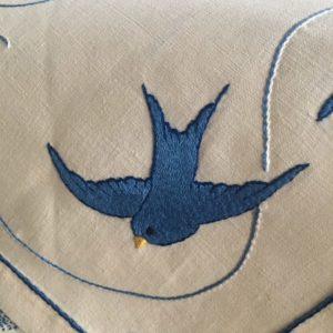 oiseau bleu détail