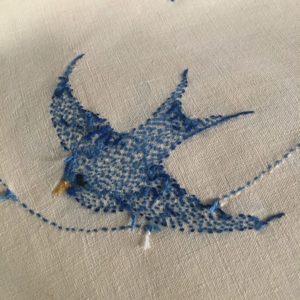 oiseau bleu envers