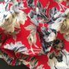 Roses grisées tissu ancien Boussac