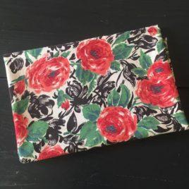 tissu ancien Marignan roses en buisson