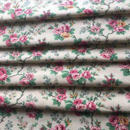 Villandry tissu coton ancien fond jane pale