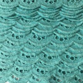 feston anglais turquoise