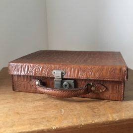 valise cuir croco