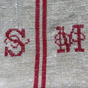 monogramme rouge SM
