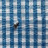 coton vintage grand vichy bleu